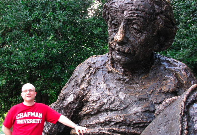 Doug with Einstein