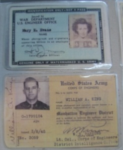 ID cards from the Manhattan Project