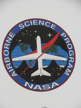 Airborne Science Program logo on the side of the Global Hawk.