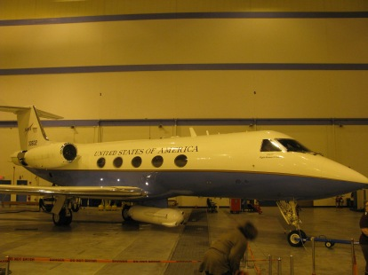 NASA's C-20 for airborne science research on the Earth's surfaces.