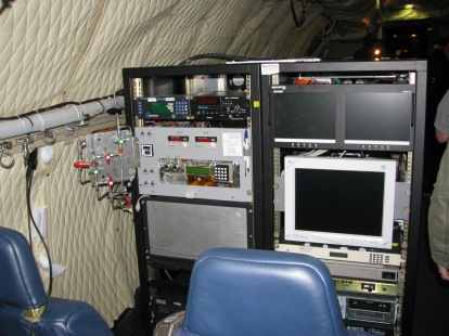 Aircraft are chockfull of science equipment for airborne data collection.