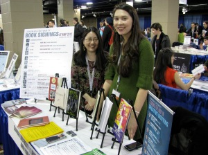 AWP 2012: Karen An-hwei Lee & Erica Hayes at the Tabula Poetica Bookfair Table