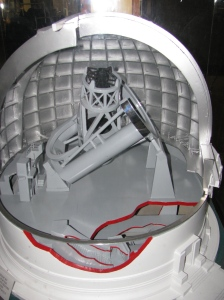 Model of Hale Telescope inside the Dome